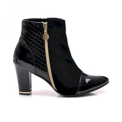 CNB Velice krásné černé kotníčkové boty velikost 40