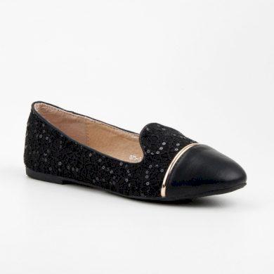 TOP SHOES Luxusní černé krajkové lordsy velikost 36