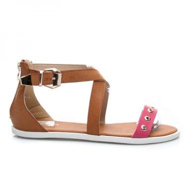 RandBE Stylové dámské sandálky s růžovým páskem velikost 40