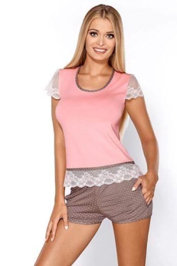 HAMANA Noční komplet Hamana Roxy SET light pink barva světle růžová, velikost XL