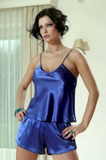 DKaren Karen dámské pyžamo modré barva královská modř, velikost S