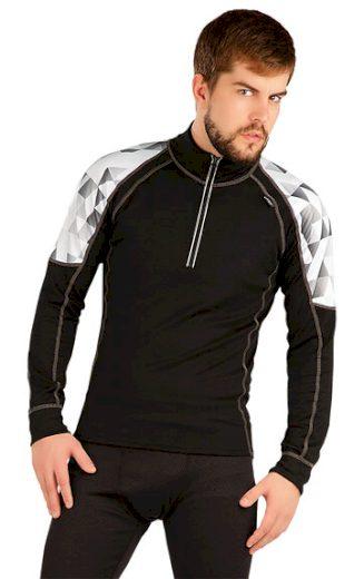 LITEX Termo triko pánské s dlouhým rukávem 87016  barva černá, velikost XL