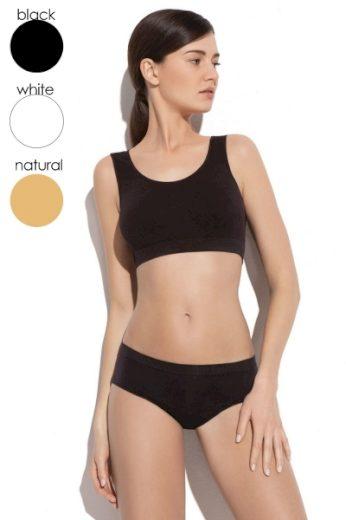 GATTA Fitness top 3k612 natural barva tělová, velikost S