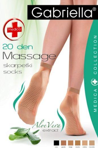 GABRIELLA Dámské ponožky 623 Medica 20 nero barva černá, velikost Univerzální