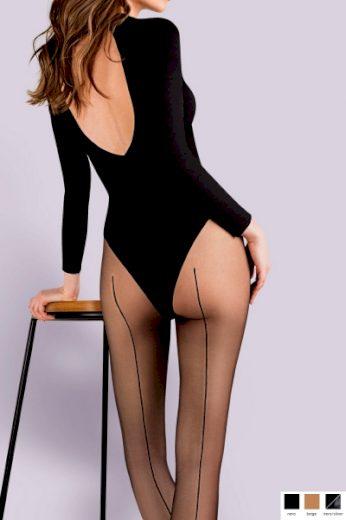 GABRIELLA Dámské punčocháče 116 Linette nero barva černá, velikost S