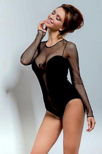 Body Hamana Cabaret BD black  barva černá, velikost M