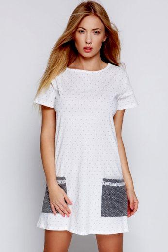 Sensis Noční košile Lou ecru barva krémová, velikost S