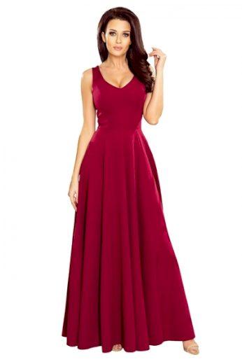 NUMOCO Dámské šaty 246-1 barva bordó, velikost S