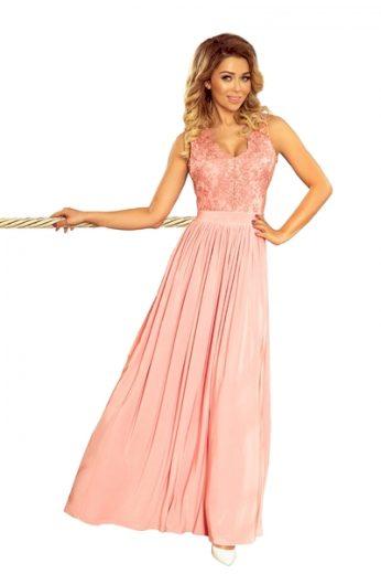 NUMOCO Dámské šaty 215-4 barva pudrově růžová, velikost S
