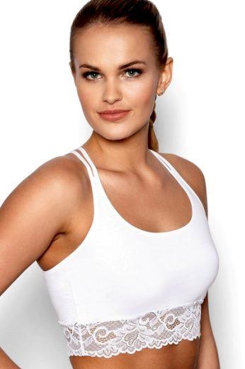 ELDAR Fitness top Aurora white barva bílá, velikost S