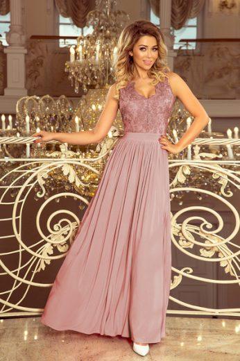 NUMOCO Dámské šaty  215-5 barva staro růžová, velikost M