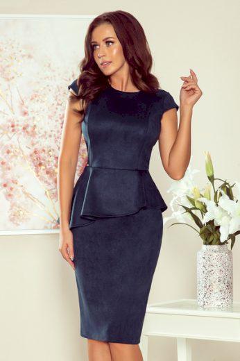 NUMOCO Dámské šaty  192-9  barva tmavě modrá, velikost S