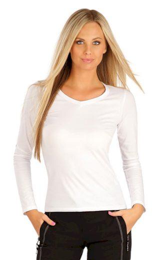 LITEX Tričko dámské s dlouhým rukávem 99596 barva bílá, velikost S