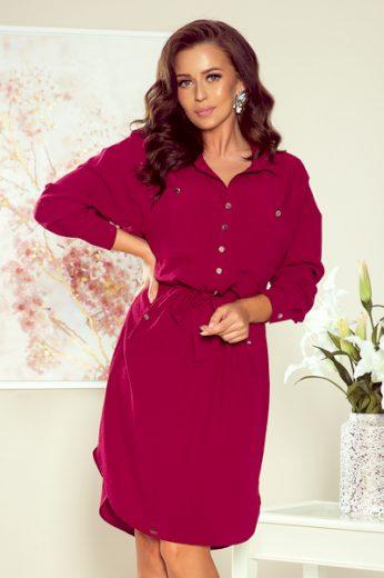 NUMOCO Dámské šaty  258-1 Brooke barva bordó, velikost S