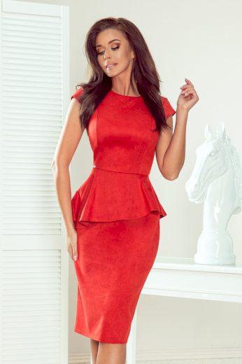 NUMOCO Dámské šaty  192-11  barva červená, velikost S