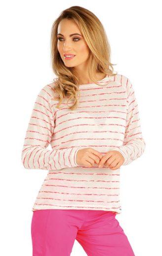 LITEX Tričko dámské s dlouhým rukávem 5A143 barva pruhy, velikost S