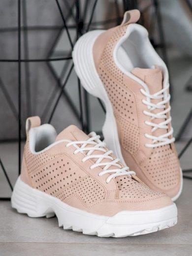 KYLIE Komfortní dámské růžové  tenisky bez podpatku velikost 36