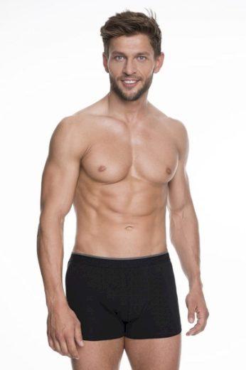 JULIMEX Pánské boxerky Iron black barva černá, velikost M