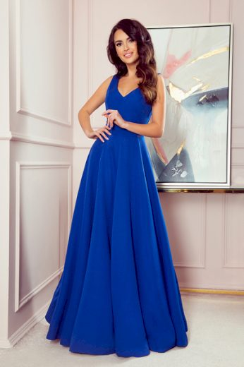 NUMOCO Dámské šaty  246-3 Cindy barva královsky modrá, velikost S