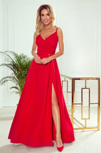 NUMOCO Dámské šaty  299-1 Chiara barva červená, velikost M