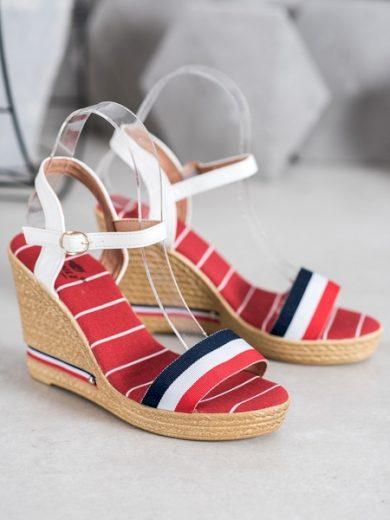 YES MILE Designové dámské vícebarevné  sandály na klínku velikost 39