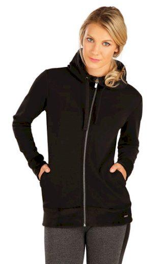 LITEX Mikina dámská s kapucí 7A089 barva černá, velikost S