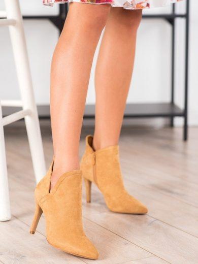 BELLA PARIS Jedinečné dámské  kotníčkové boty hnědé na jehlovém podpatku velikost 36