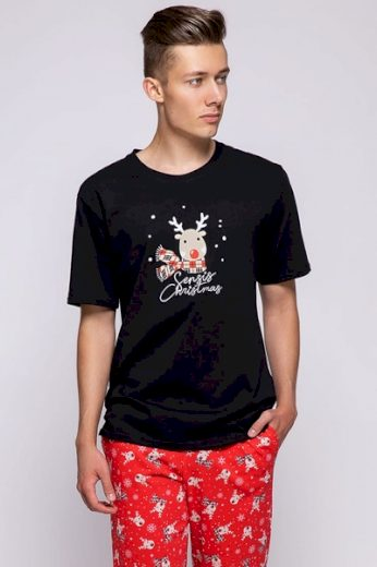 Sensis Pánské pyžamo Rudolfo barva černá, velikost M