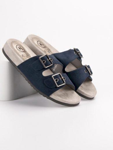 KYLIE Módní modré  nazouváky dámské bez podpatku velikost 37