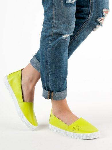 KYLIE Luxusní dámské zelené  tenisky bez podpatku velikost 37