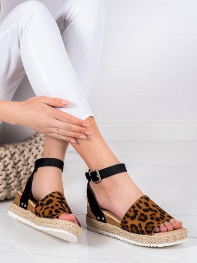 KYLIE Krásné se zvířecím motivem  sandály dámské na klínku velikost 37