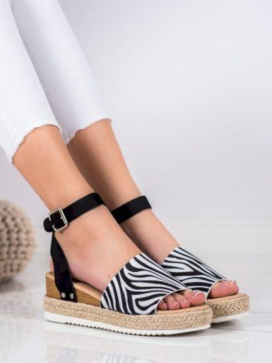 KYLIE Trendy  sandály dámské se zvířecím motivem na klínku velikost 37