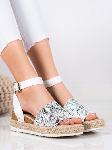 KYLIE Praktické  sandály dámské se zvířecím motivem na klínku velikost 36