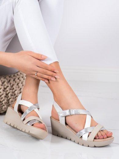 KYLIE Originální  sandály vícebarevné dámské na klínku velikost 37