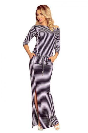NUMOCO Dámské šaty 220-5 barva bílo-modrá, velikost XL