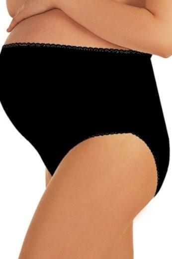 ITALIAN FASHION Těhotenské kalhotky Mama maxi black barva černá, velikost M