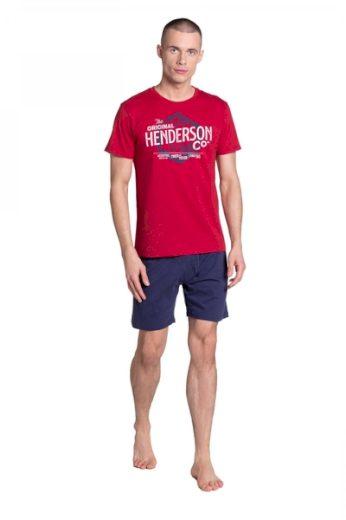 HENDERSON Pánské pyžamo 38869 barva červená, velikost M