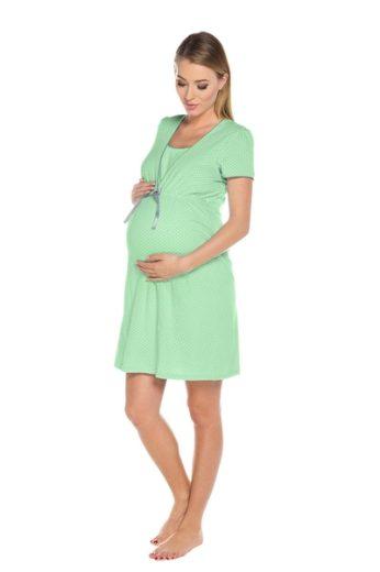 ITALIAN FASHION Kojící košile Felicita green barva zelená, velikost M