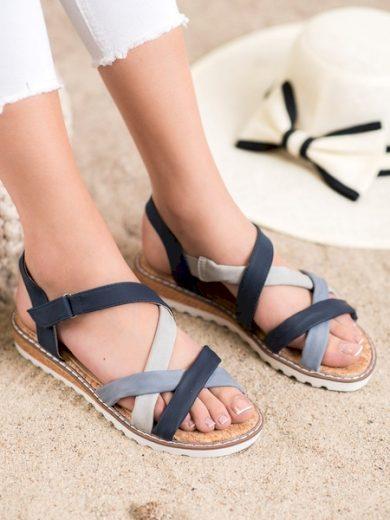 KYLIE Trendy  sandály dámské modré bez podpatku velikost 36