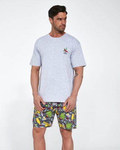 CORNETTE Pánské pyžamo 326/107 MEXICO barva šedá, velikost M