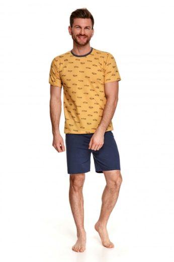 TARO Pánské pyžamo 072 Max barva žlutá, velikost L