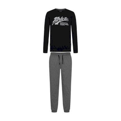 HENDERSON Pánské pyžamo 38376 Optimist black barva černá, velikost L