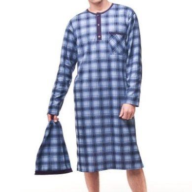 CORNETTE Pánská noční košile 110 mix barva modrá, velikost M