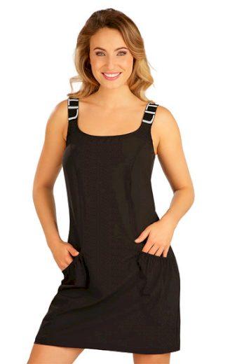 LITEX Šaty sportovní na ramínka 5B188 barva černá, velikost S