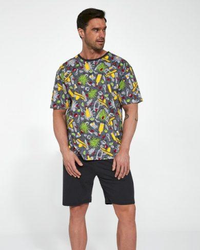 CORNETTE Pánské pyžamo krátký rukáv 323/108 MEXICO 2 barva tisk, velikost M