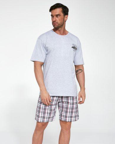 CORNETTE Pánské pyžamo 326/103 RACE CAR 2 šedá barva šedá, velikost L