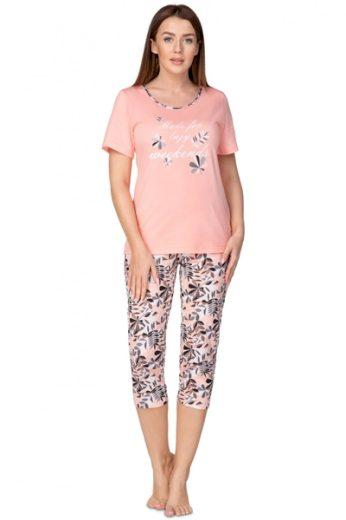 REGINA Dámské pyžamo Koralová barva korálová, velikost XL