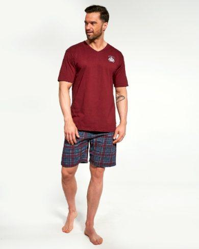 CORNETTE Pánské pyžamo 326/122 bordó barva bordó, velikost M