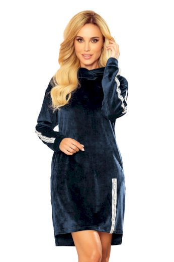 NUMOCO Dámské šaty  322-4 barva tmavě modrá, velikost S