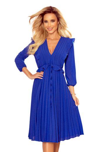 NUMOCO Dámské šaty  341-1 POLLY barva královská modrá, velikost XL